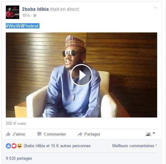 2Face Idibia fait une annonce importante sur les réseaux sociaux