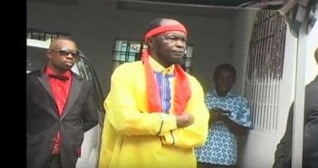 Le chef spirituel de Kundu Dia Kongo