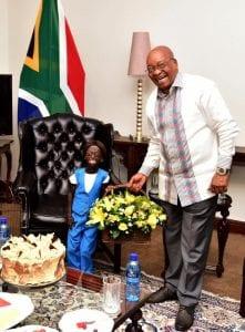 PHOTOS : Découvrez cette fille extraordinaire qui rêvait de rencontrer Jacob Zuma