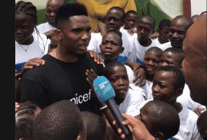 Cameroun : Samuel Eto'o ambassadeur de l'Unicef partage le sourire avec les enfants (Photos)
