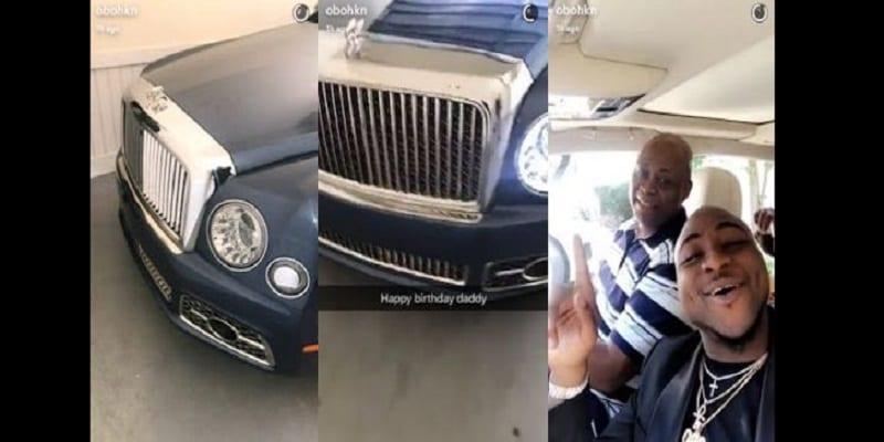 Davido offre père une Bentley neuve célébrer son anniversaire