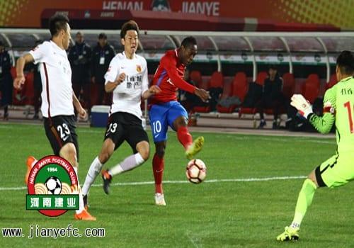 Chine: Christian Bassogog livre son premier match avec son nouveau club...Photos