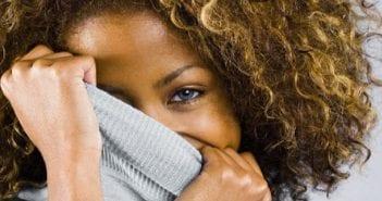 shy-black-woman