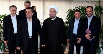 Mahmoud Ahmadinejad et Hassan Rohani