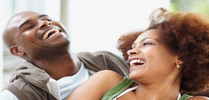 Black-couple-laughing