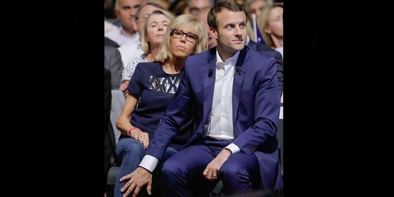 Macron rencontre sa femme