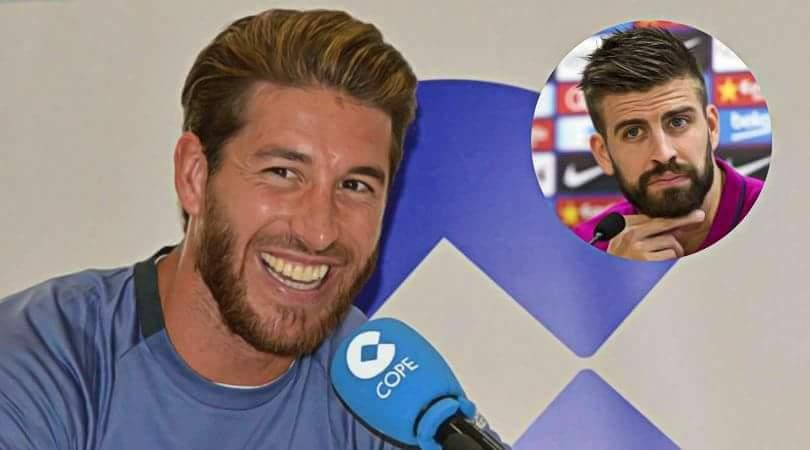 Finale de la ligue des champions: la petite provocation de Sergio Ramos à Gérard Piqué