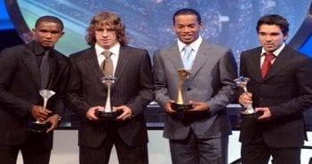 Eto_Puyol_Ronaldinho_Deco_exhiben_premios