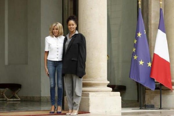 Rihanna rencontre le couple Macron à l'Elysée dans un look détonnant: PHOTOS