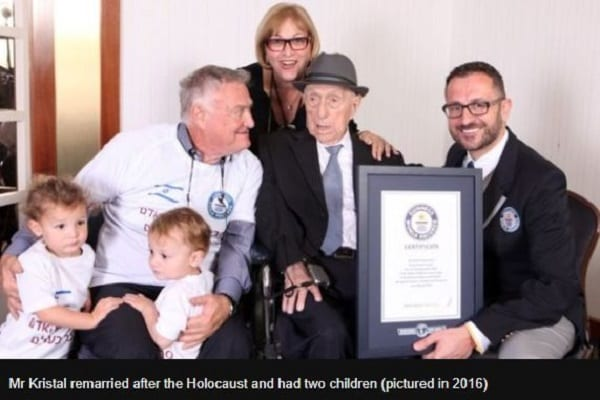 Yisrael Kristal, le plus vieil homme du monde est mort à 113 ans