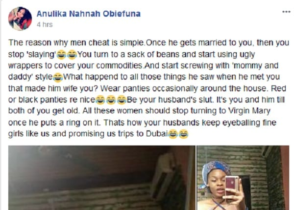 Une nigériane révèle pourquoi les hommes mariés préfèrent les filles comme elle