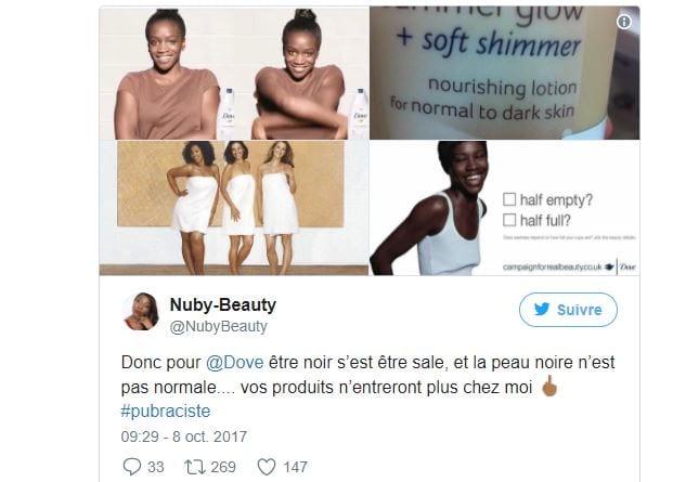 La marque Dove boycottée par les internautes après une publicité jugée raciste