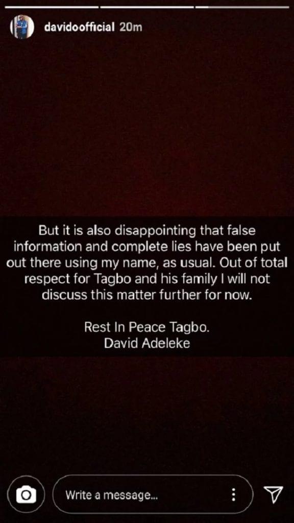 Nigeria: accusé de meurtre, Davido sort de sa réserve