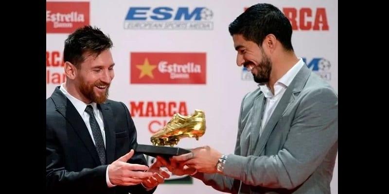 Football: Lionel Messi reçoit son quatrième Soulier d'Or (photos)