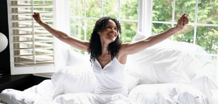 black-woman-happy-wakingup