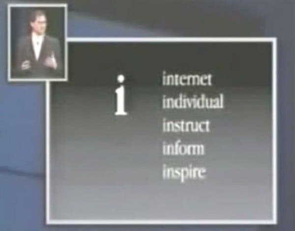 Technologie: Voici ce que le 'i' dans iPhone signifie