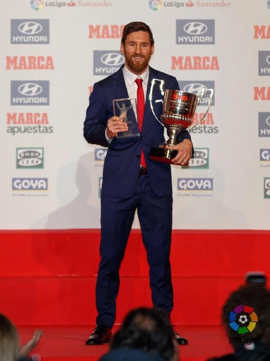 Liga: Lionel Messi sacré meilleur joueur de l'année parle du clasico (photos)