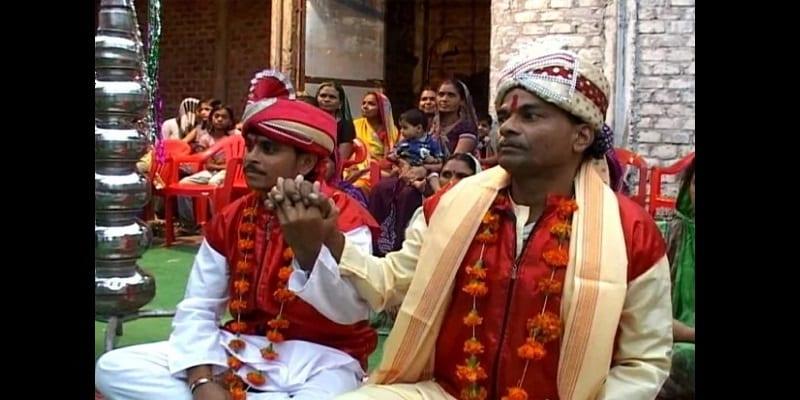 Inde: 2 hétéros3xuels se marient pour apaiser le dieu de la pluie (photo)
