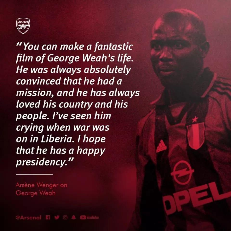 Liberia: Arsène Wenger rend un vibrant hommage à George Weah