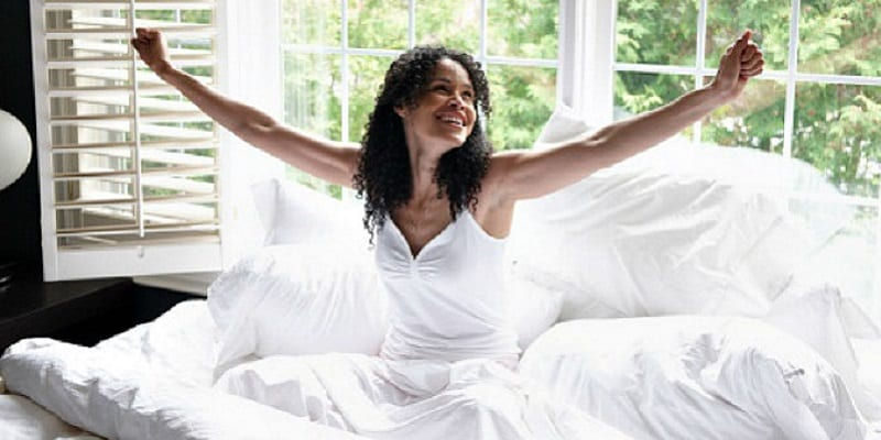black-woman-happy-wakingup