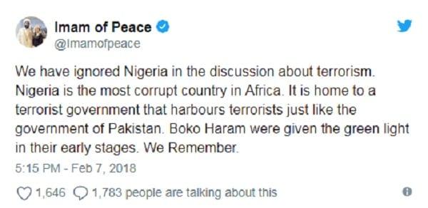 """""""Le Nigeria est le pays le plus corrompu d'Afrique"""", dixit un imam australien"""