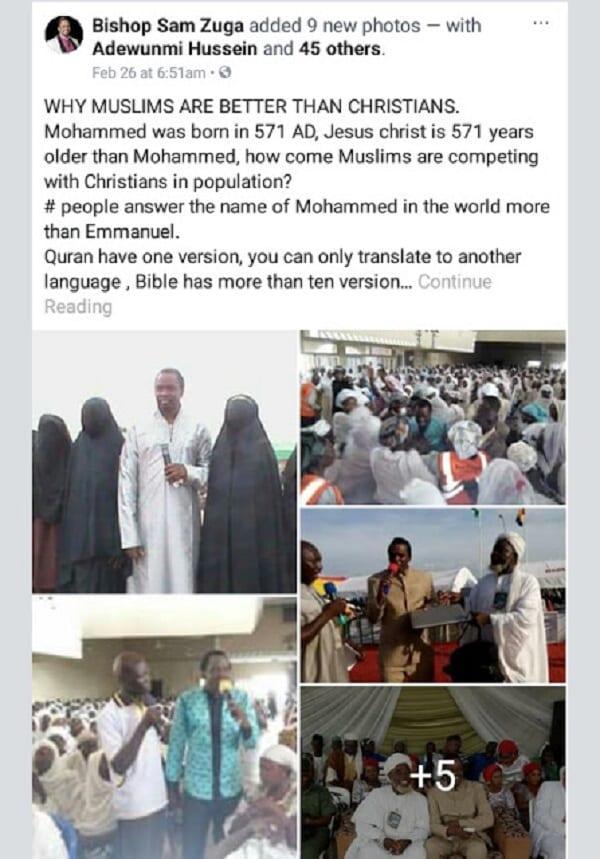 Religion: Un pasteur explique selon lui, pourquoi les musulmans sont mieux que les chrétiens