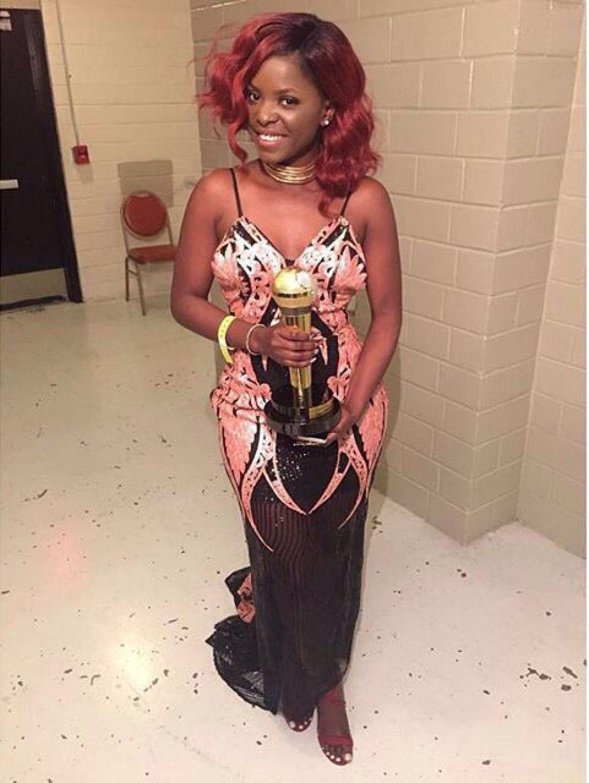 Musique: La chanteuse Camerounaise Daphne honorée au Congo (photos)