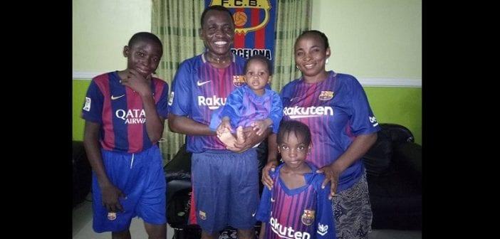 Nigeria: Découvrez en photos l'heureuse «famille Barcelone»