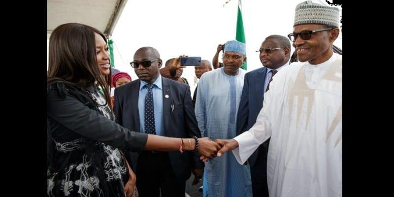 Nigéria: Polémique autour de la visite de Naomi Campbell (photos)