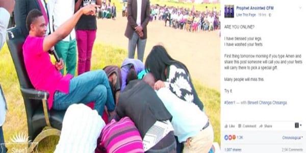 Zambie: Un ''prophète'' nigérian fait lécher ses chaussures à ses fidèles