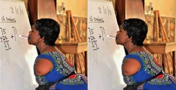 Ghana: Découvrez Enyonam, l'enseignante des mathématiques sans bras qui écrit avec ses dents