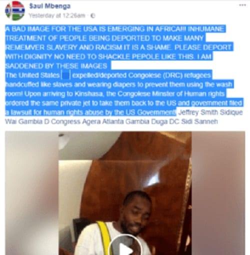 USA: Le gouvernement expulse des Congolais enchaînés et portant des couches. Kinshasa réagit (VIDÉO)