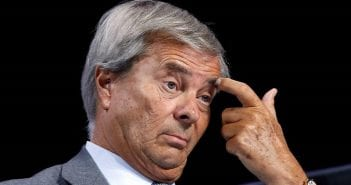 Vincent Bollore, Chairman of media group Vivendi attends the company's shareholders meeting in Paris