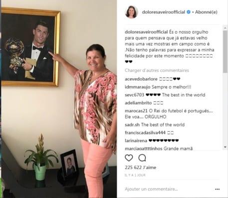 Le message de la Maman de Ronaldo après la belle prestation de son fils