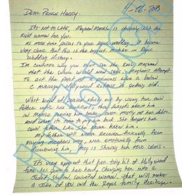 Meghan Markle : Son demi-frère fait de troublantes révélations sur elle dans une lettre