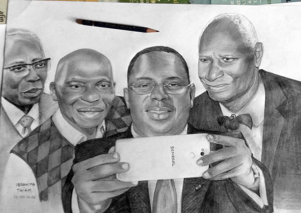 Sénégal: A la découverte de l'artiste Ibrahima Thiam, la magie au bout du crayon!