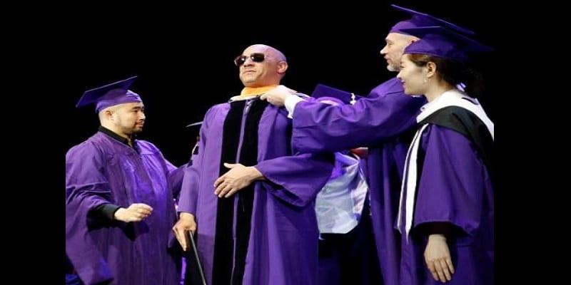 People: Vin Diesel honoré avec un doctorat en Lettres (photos)