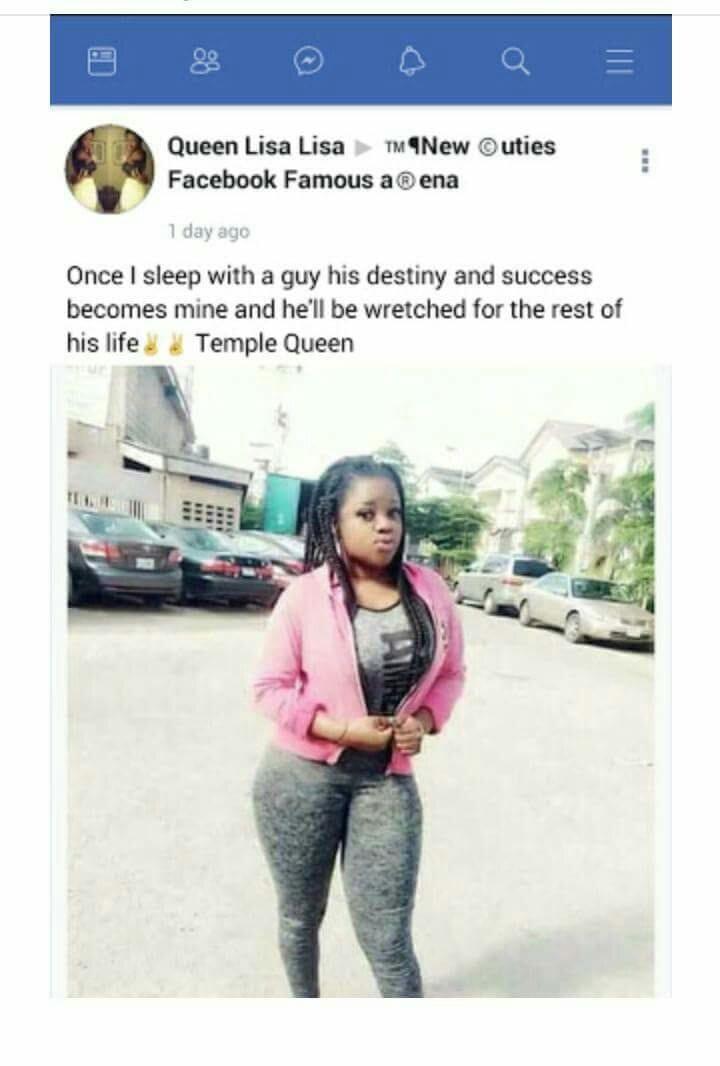 """""""Une fois que je couche avec un homme, il devient misérable à vie"""", confesse une nigériane"""