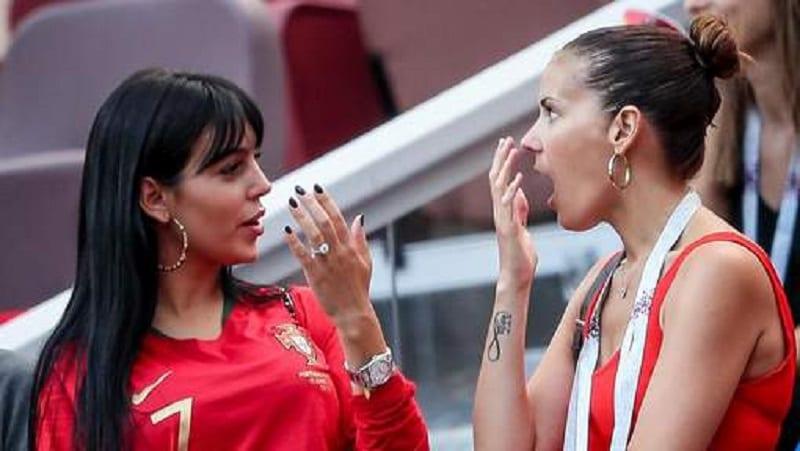 Georgina Rodriguez, la compagne de Cristiano Ronaldo assiste au match Portugal Maroc (1-0) lors de la coupe du monde 2018 ! Moscou en Russie