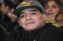 FOOTBALL : Arrivee Diego Maradona Temple renommée Italienne – Florence – 17/01/2017