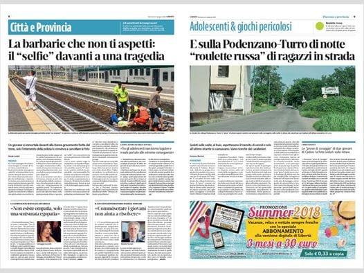 Italie : Il prend un selfie devant une femme percutée par un train (Photo)