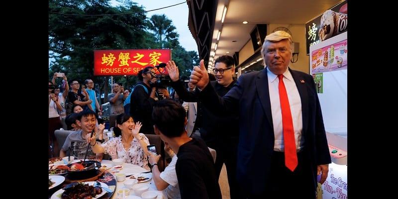 Les sosies de Donald Trump et de Kim Jong Un font le buzz (vidéo)