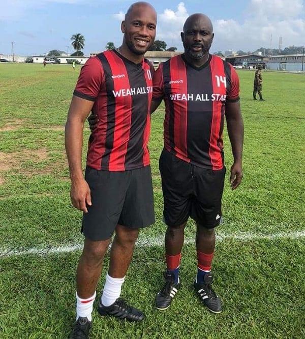 Liberia: Didier Drogba et le président George Weah jouent pour la charité