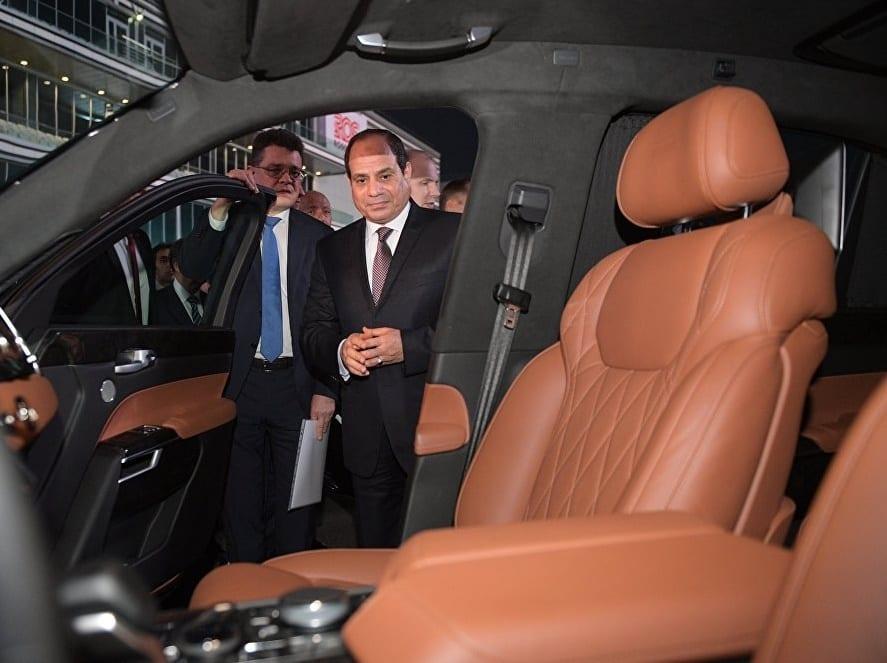 Russie: Une limousine haut de gamme testée par Poutine et Abdel Fattah-al-Sissi (photo)