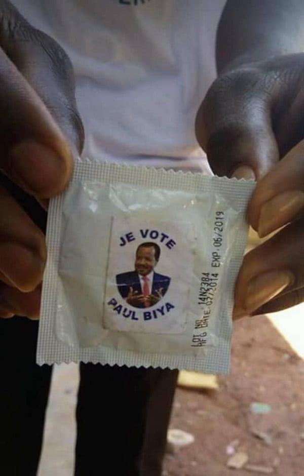 Cameroun: une femme complètement nue pour la campagne de Paul Biya