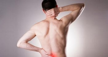 Lower back pain of the man