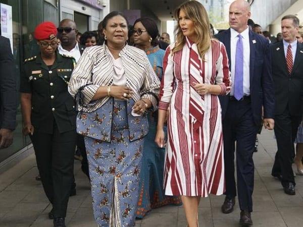Melania Trump arrive au Ghana pour sa première visite en Afrique