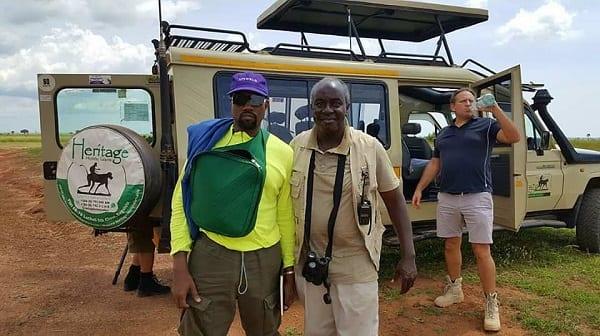 Le rappeur américain Kanye West et sa famille en visite en Ouganda