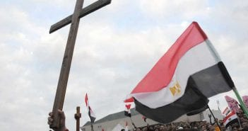 ALEXANDRIA : Egyptian Christians protest over a church burning
