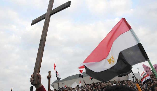 ALEXANDRIA : Egyptian Christians protest over a church burning